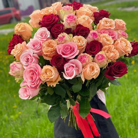 Микс Букет из роз