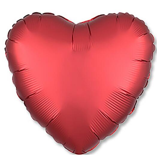 Шар фольга сердце матовый