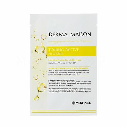 Тканевая маска с витаминным комплексом MEDI-PEEL Derma Maison Toning Active Facial Mask