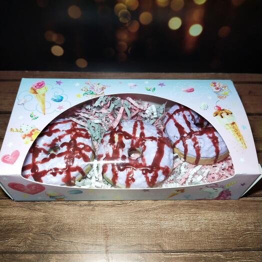 Подарочный набор из мыльных пончиков
