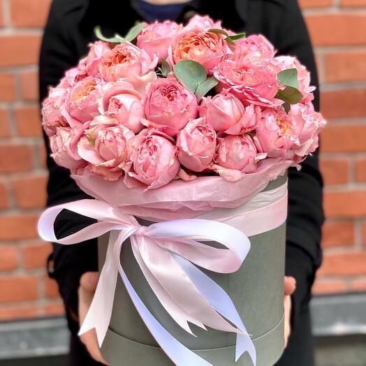 Коробка XXL с пионовидными розами