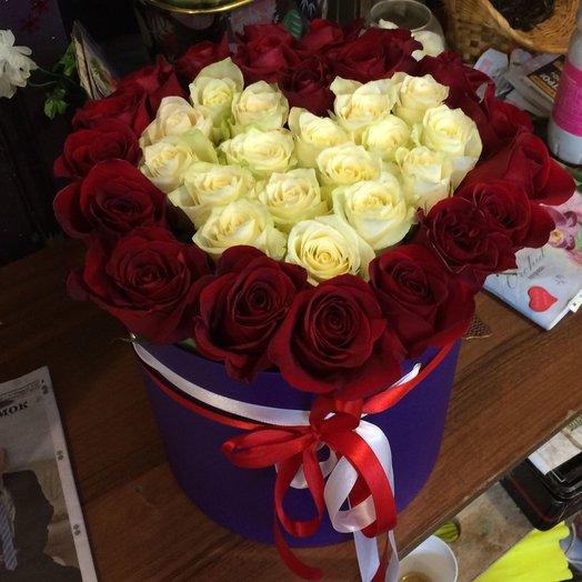 Шляпная Коробка Я тебя люблю: букеты цветов на заказ Flowwow