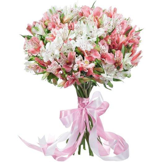 Букет из альстромерий Розовый жемчуг: букеты цветов на заказ Flowwow