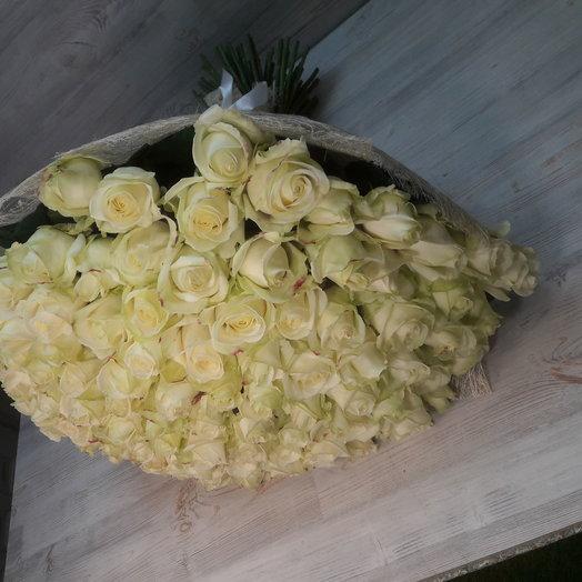 Букет 101шт роза белая: букеты цветов на заказ Flowwow