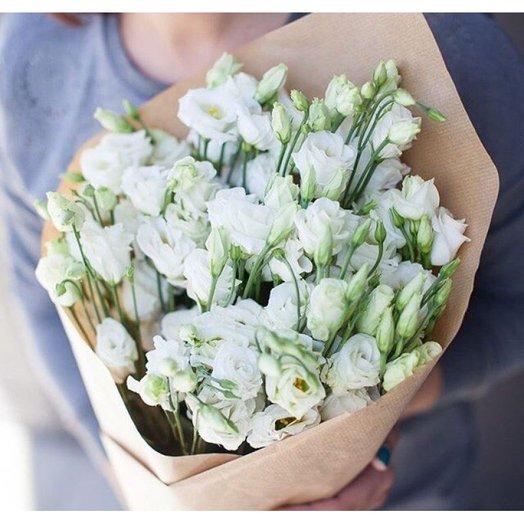 Букет из белой эустомы.: букеты цветов на заказ Flowwow