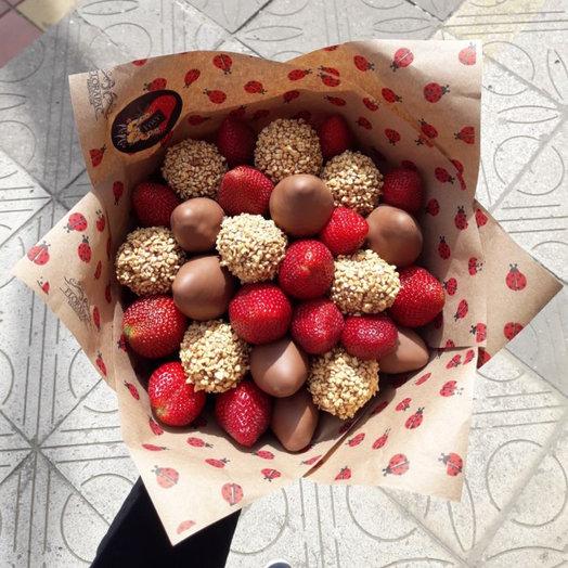 """Bouquet """"Strawberry mix 41-piece"""""""