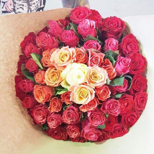Bouquet of Raduga L size: flowers to order Flowwow