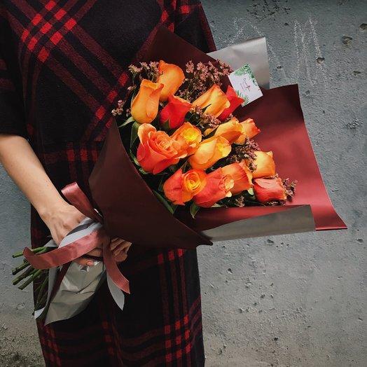 """Букет """"Осенние розы"""": букеты цветов на заказ Flowwow"""