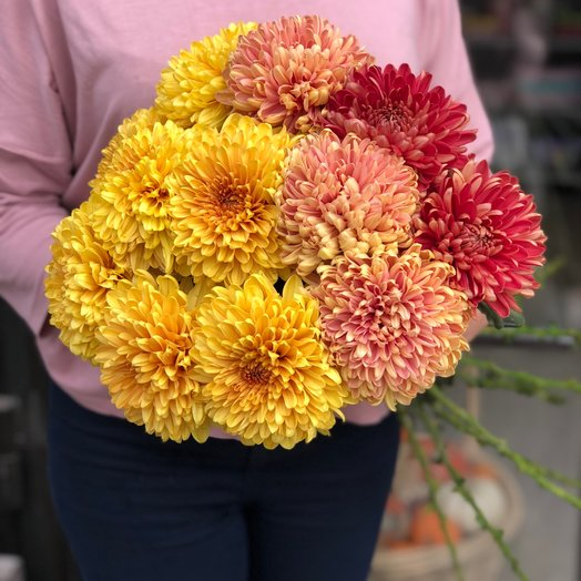 Bouquet of 11 mixed chrysanthemums: flowers to order Flowwow