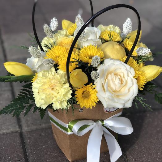 Жёлтое настроение: букеты цветов на заказ Flowwow