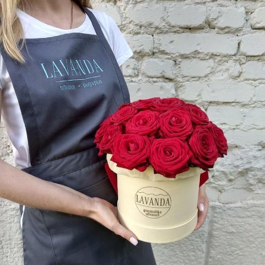 """Шляпная коробка М """" Любовь"""": букеты цветов на заказ Flowwow"""