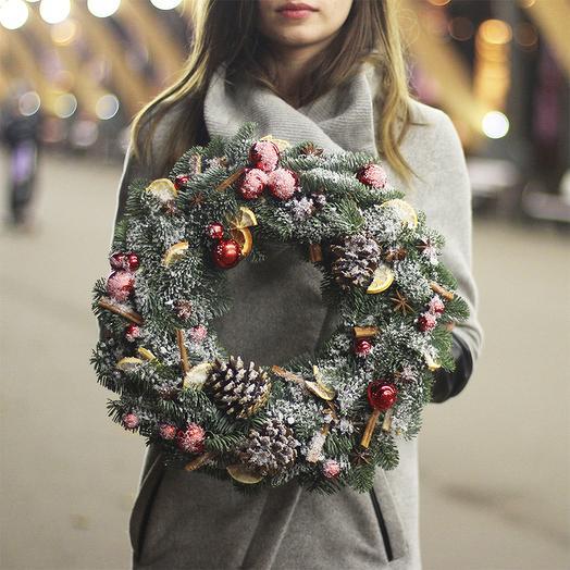 Новогодний венок 01: букеты цветов на заказ Flowwow