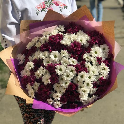 Букет из кустовых хризантем. 35 веток. N292: букеты цветов на заказ Flowwow