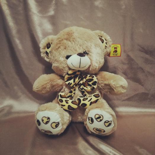 Мишка с леопардовым бантом: букеты цветов на заказ Flowwow