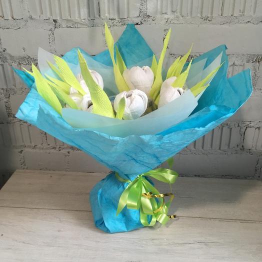 Букет из конфет и чая: букеты цветов на заказ Flowwow