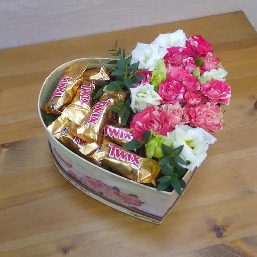 Сладкая парочка: букеты цветов на заказ Flowwow