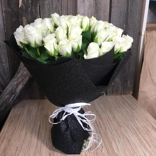 51 white rose Kenya: flowers to order Flowwow