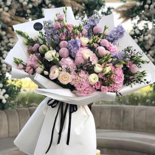 Акварельный гигант: букеты цветов на заказ Flowwow
