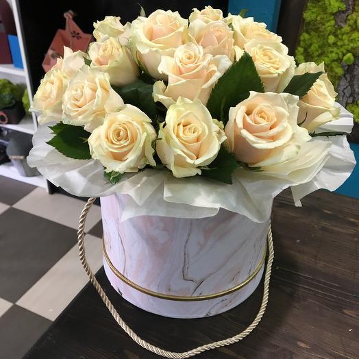 Персиковые розы: букеты цветов на заказ Flowwow
