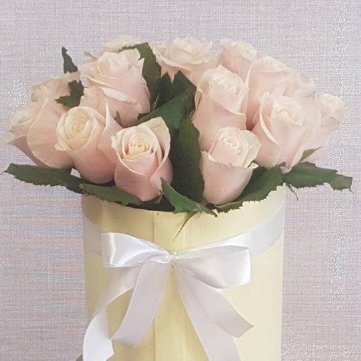 """Коробка с розами""""Милое очарование"""": букеты цветов на заказ Flowwow"""