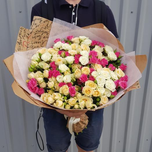 Нежное сочетание: букеты цветов на заказ Flowwow