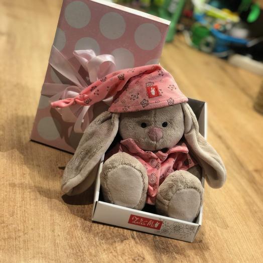 Зайка Ми в розовой пижаме: букеты цветов на заказ Flowwow
