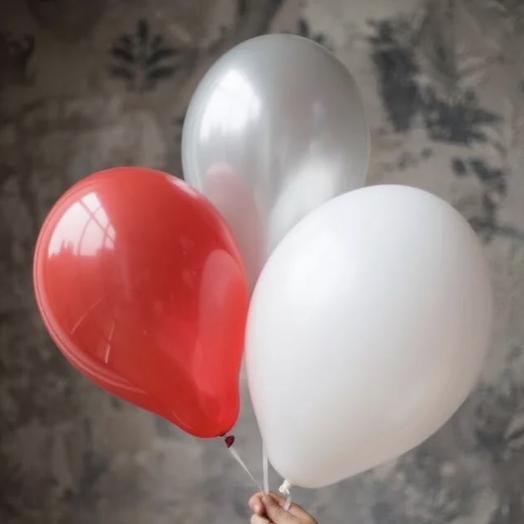 3 воздушных шарика: букеты цветов на заказ Flowwow