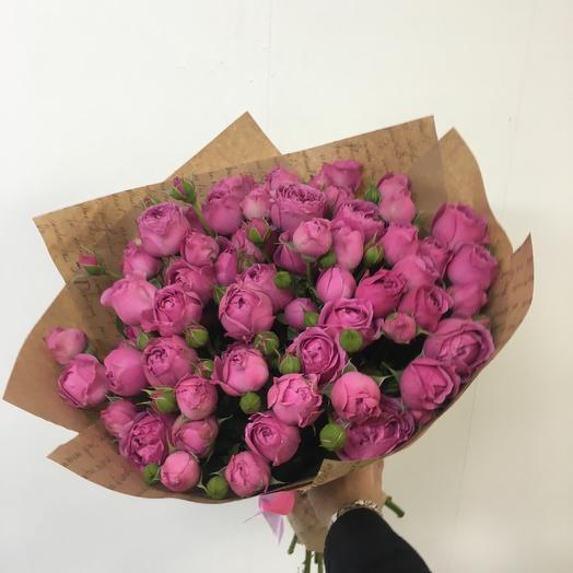 19 пионовидных роз Мисти Баблс: букеты цветов на заказ Flowwow
