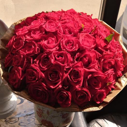 37 красных роз: букеты цветов на заказ Flowwow