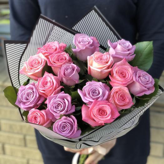 Букет из 17 роз микс: букеты цветов на заказ Flowwow