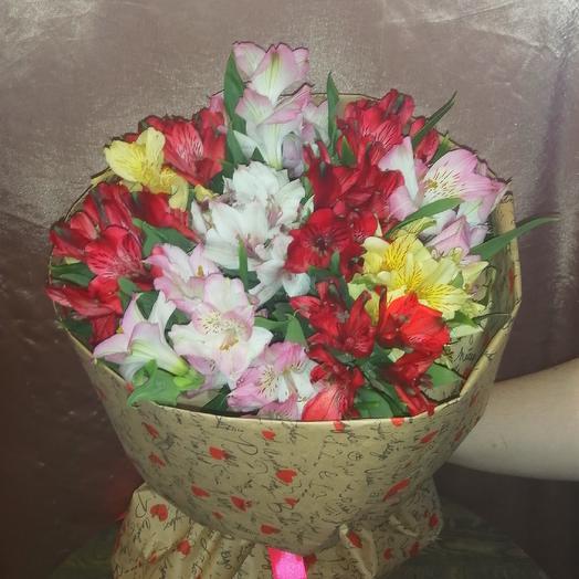Букет из 11 альстромерий микс: букеты цветов на заказ Flowwow