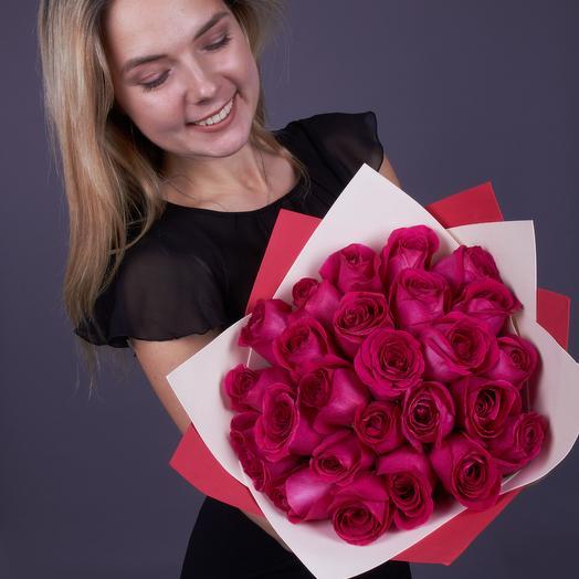 25  роз Pink Floyd, Эквадор, Premium (ваза в подарок, см. условия акции)