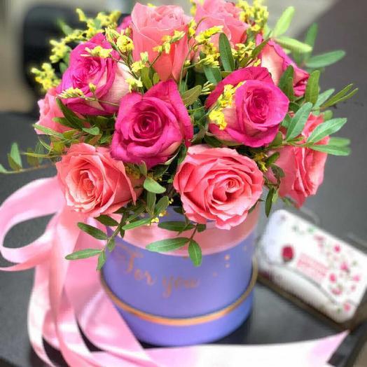 Розовая ночь: букеты цветов на заказ Flowwow