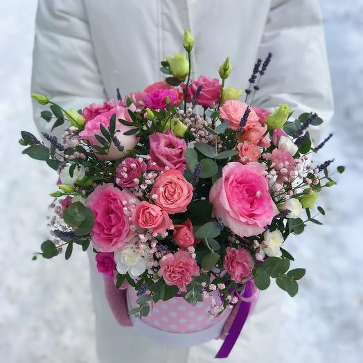 Шляпная коробочка «Атлантида»: букеты цветов на заказ Flowwow