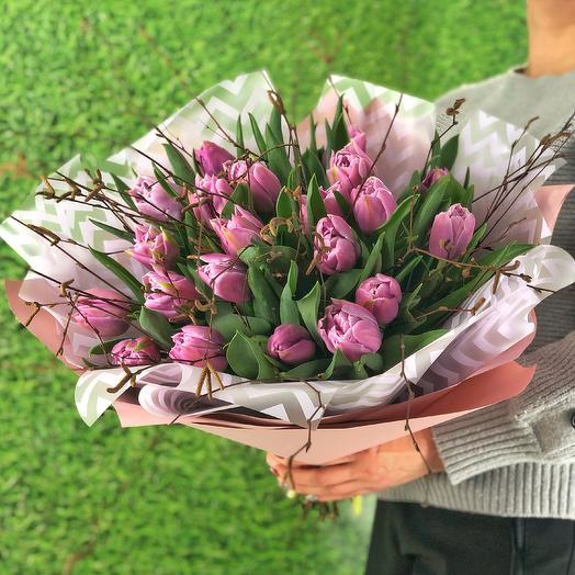 Весне дорогу (21 пионовидный тюльпан)