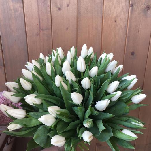 """Большой букет для мамы """"55 тюльпанов"""""""