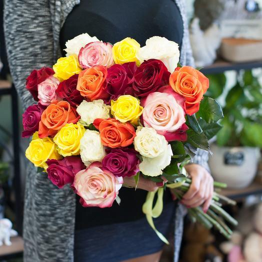 Букет из роз премиум класса (25 роз): букеты цветов на заказ Flowwow