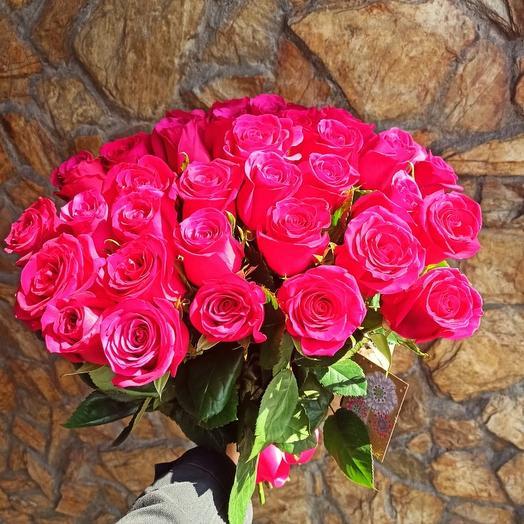 25 премиум роз 60 см: букеты цветов на заказ Flowwow