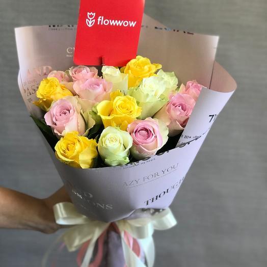 Комплимет🌹 15 роз