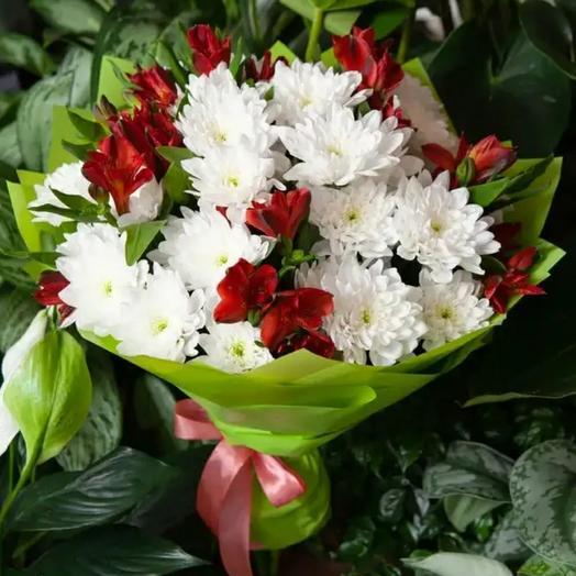 Хризантема и альстромерия