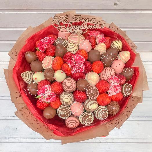 Букет из клубники в Шоколаде Рэд