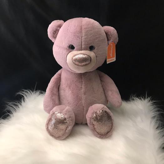 Медвежонок сиреневый 35 см