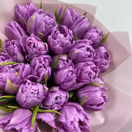 Лавандовые сны(тюльпаны пионовидные)