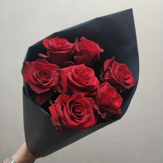 Шикарная эквадорская Роза(7шт)