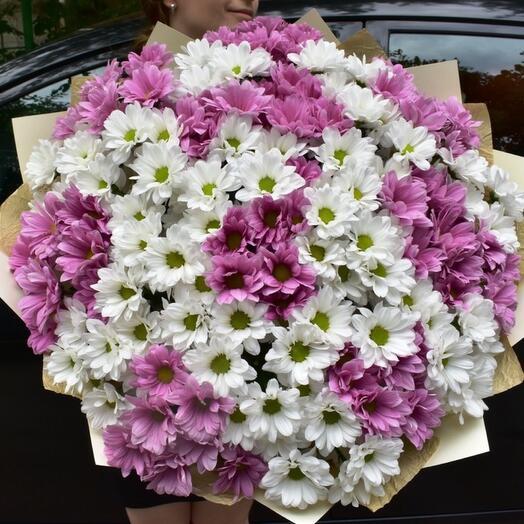 Шикарный букет хризантем
