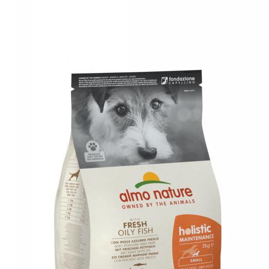 Almo Nature сухой корм для взрослых собак мелких пород с рыбой 12 кг