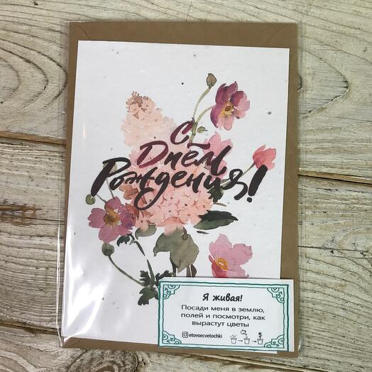 Живая -открытка «С Днём Рождения»