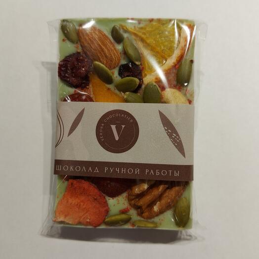 """Белый бельгийский шоколад ручной работы со вкусом """"Лайм"""" от Verona"""