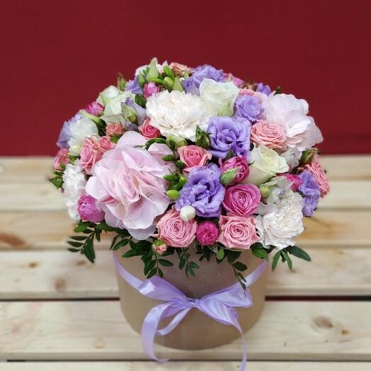 Цветы в коробке Жемчужина красоты