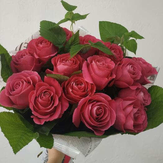 Шикарные 15 роз в Малине
